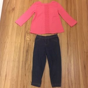 Coral long Sleeve Outfit